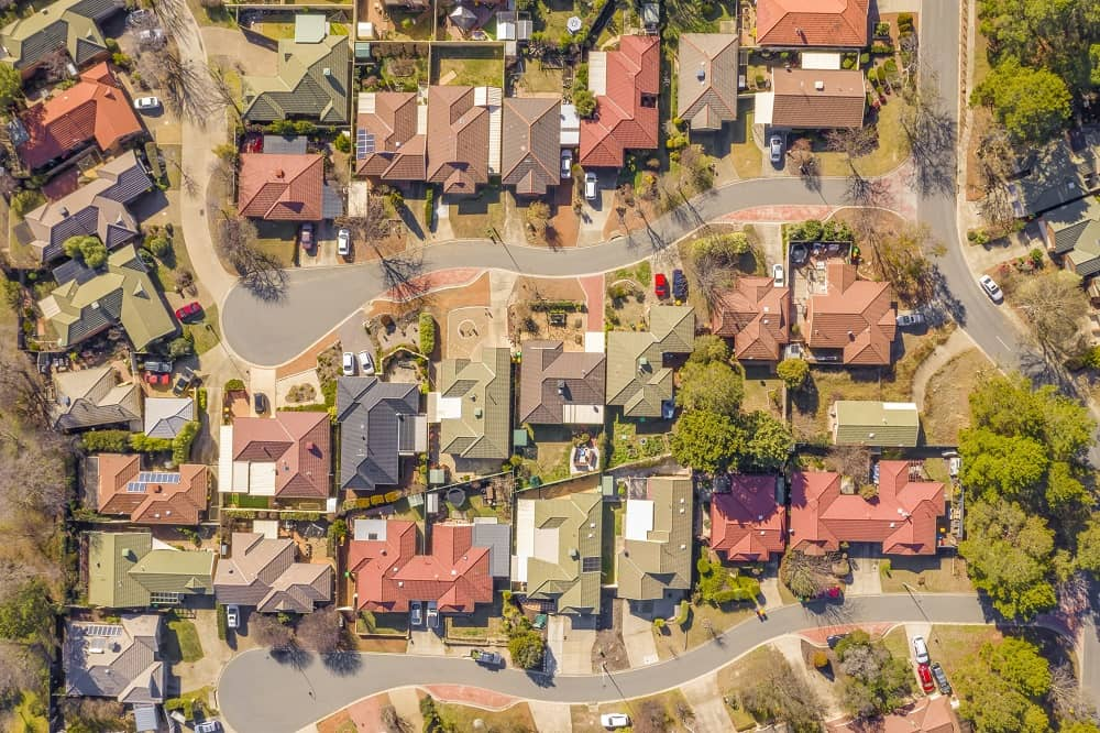 Various houses in a Perth suburb